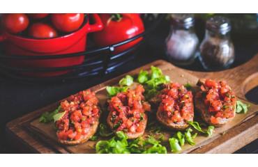 Recette de la traditionnelle bruschetta tomates